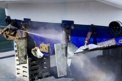 шайба давления корпуса чистки шлюпки щипцев голубая Стоковое Фото