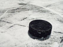 шайба хоккея Стоковые Изображения