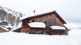 Шале Malbun лыжи стоковое фото