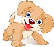 шаловливый щенок иллюстрация вектора