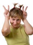 шальная девушка Стоковое Фото