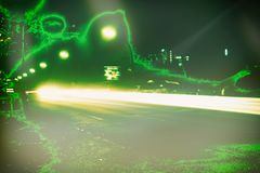 Шальная зеленая выдержка времени Гамбург конспекта вируса стоковые изображения