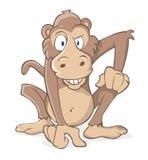 шальная обезьяна Стоковое фото RF