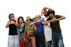 шальная разнообразная команда людей Стоковые Изображения