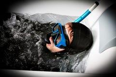 шальное погружение водолаза Стоковые Фото