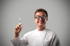 шальной доктор стоковая фотография