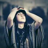 Шальной молодой идти человека битника моды внешний Стоковое Изображение RF
