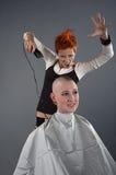 шальной парикмахер Стоковое фото RF