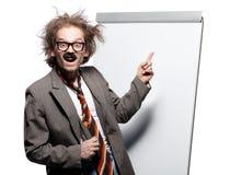 шальной профессор Стоковая Фотография RF