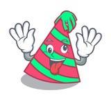 Шальной шарж талисмана шляпы партии иллюстрация штока