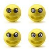 шальные smileys 3d Стоковые Фото