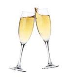 шампанское веселит стекла 2 стоковые изображения