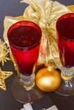 Шампанское 2012 Кристмас Стоковое фото RF