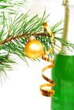 шампанское новый s ветви toys год Стоковое Фото