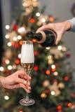 Шампанское пар выпивая Стоковая Фотография