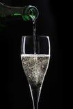 шампанское предпосылки черное Стоковое Изображение RF