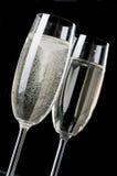 шампанское 2 рюмки Стоковое Фото