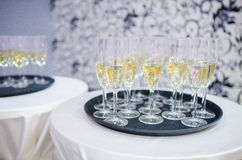 Шампань в стеклах Стоковое Фото