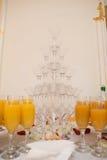 Шампань в стеклах Стоковые Изображения RF