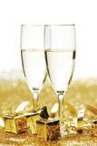 Шампань и подарки Стоковые Изображения RF