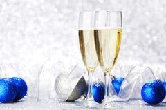 Шампань и шарики Стоковое Изображение RF