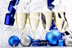 Шампань и шарики Стоковое фото RF