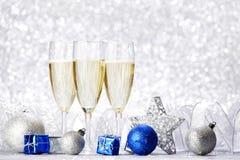 Шампань и шарики Стоковая Фотография