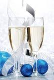 Шампань и шарики Стоковые Изображения