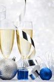Шампань и шарики Стоковое Изображение