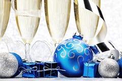 Шампань и шарики Стоковые Изображения RF