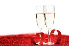 Шампань на ярких блесках Стоковая Фотография RF