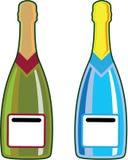 Шампань разливает вектор по бутылкам иллюстрация вектора