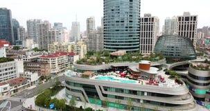 Шанхай, воздушная съемка высокой башни здания сток-видео