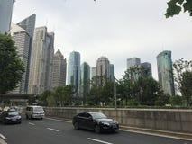 Шанхай в полдень стоковое изображение rf