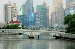 Шанхай Китай и Suzhou Creek Стоковая Фотография
