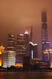Шанхай Lujiazui на ноче Стоковая Фотография RF