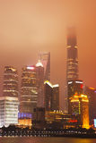 Шанхай Lujiazui на ноче Стоковое Фото
