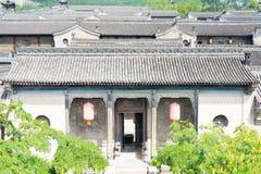 ШАНЬСИ, КИТАЙ - SEPT. 05 2015: Двор семьи Wang известный h Стоковое Фото