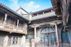 ШАНЬСИ, КИТАЙ - SEPT. 05 2015: Двор семьи Wang известный h Стоковая Фотография