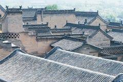 ШАНЬСИ, КИТАЙ - SEPT. 05 2015: Двор семьи Wang известный h Стоковые Фото
