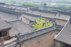 ШАНЬСИ, КИТАЙ - SEPT. 05 2015: Двор семьи Wang известный h Стоковое Изображение