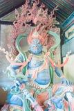 ШАНЬСИ, КИТАЙ - SEPT. 25 2015: Статуи Budda на виске Huayan A стоковые фото