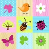 Шаржи весны Стоковое Изображение RF