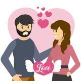 Шаржи влюбленности пар бесплатная иллюстрация