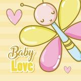 Шаржи карточки влюбленности младенца бесплатная иллюстрация
