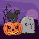 Шаржи хеллоуина страшные иллюстрация штока