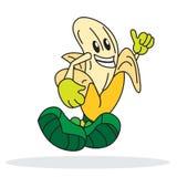 Шарж банана Стоковое Изображение