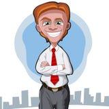 шарж бизнесмена Стоковое Фото