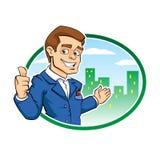 Шарж бизнесмена Стоковая Фотография RF