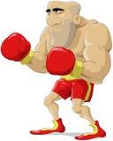шарж боксера иллюстрация штока